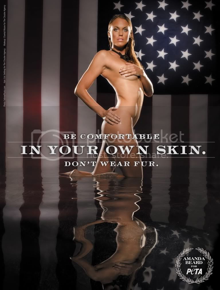 Amanda Beard Poses for PETA Image
